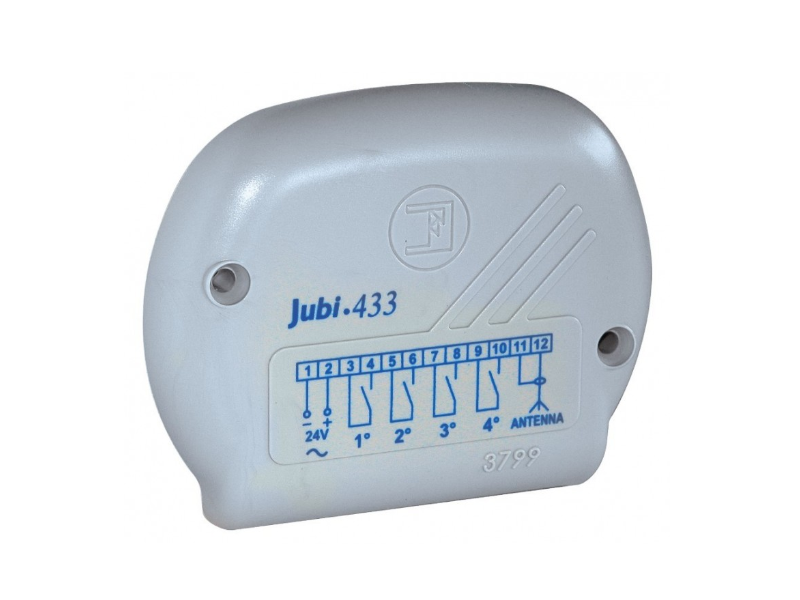JUBI RICEVENTE RADIO QUADRICANALE 1 RELE' + 3 OPTIONAL